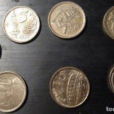 Monedas Juan Carlos I: 5 PESETAS JUAN CARLOS I - LOTE DE 7 MONEDAS. Lote 94524338