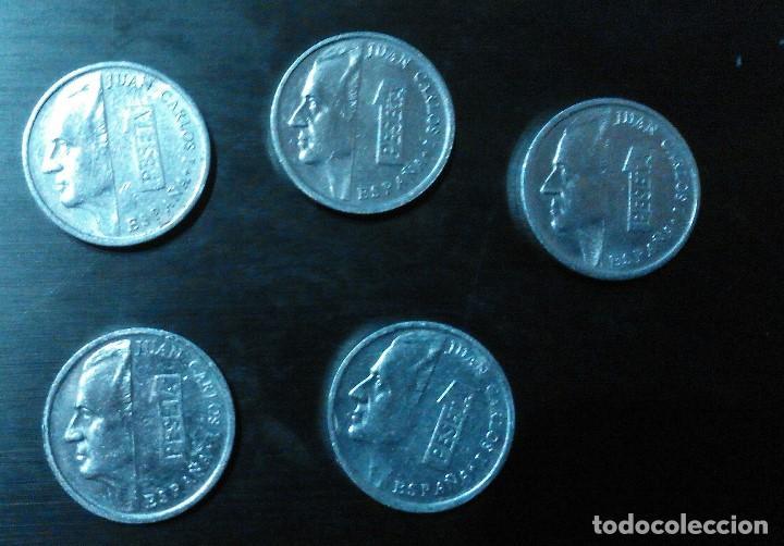 1 PESETA JUAN CARLOS 1 LOTE DE 5 MONEDAS (Numismática - España Modernas y Contemporáneas - Juan Carlos I)