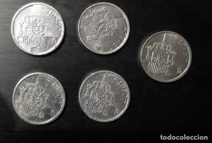 Monedas Juan Carlos I: 1 PESETA JUAN CARLOS 1 LOTE DE 5 MONEDAS - Foto 2 - 94527254