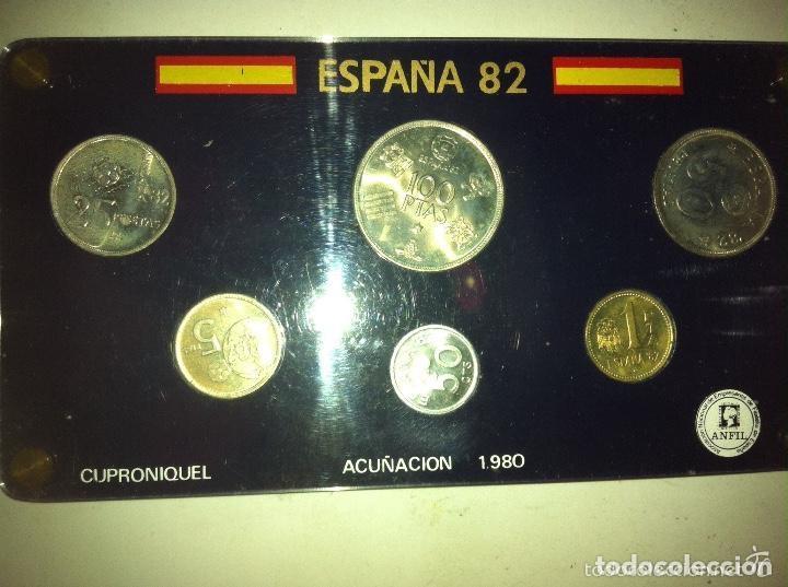 ESPAÑA 82 - ESTUCHE METRACRILATO (ANFIL) (Numismática - España Modernas y Contemporáneas - Juan Carlos I)