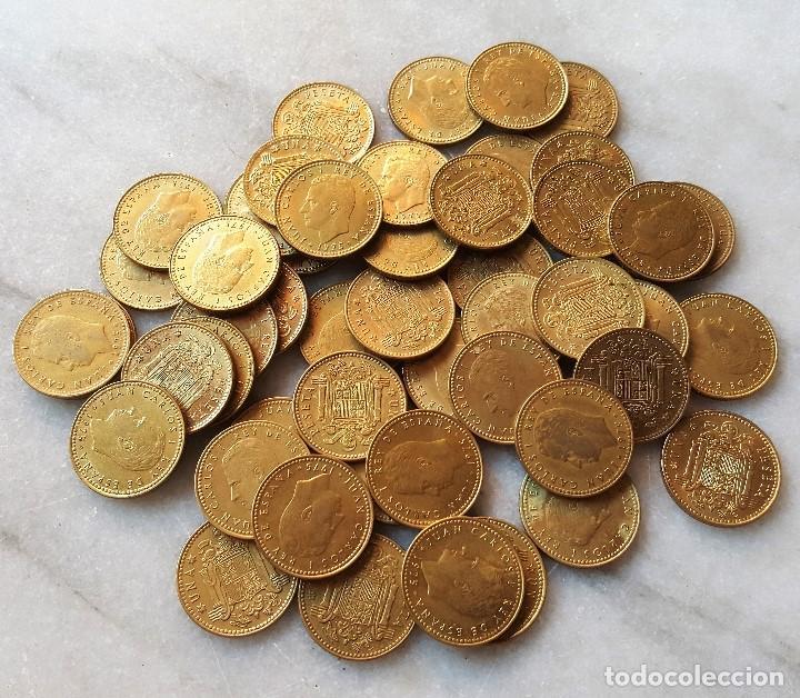Monedas Juan Carlos I: LOTE 50 MONEDAS 1 PESETA 1975 JUAN CARLOS I - Foto 3 - 96929847