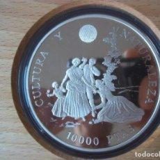 Monedas Juan Carlos I: 10 000 PESETAS ESPAÑA 1996 CULTURA Y NATURALEZA FNMT PLATA . Lote 97388487