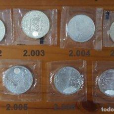 Monedas Juan Carlos I: LOTE 3 7 MONEDAS DE 12 EUROS PLATA. Lote 97696651