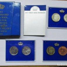 Monedas Juan Carlos I: XXV ANIVERSARIO DE LA BODA DE SS.MM. LOS REYES DE ESPAÑA. 500 PESETAS PRUEBAS. LOTE 636. Lote 98219879