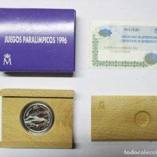 Monedas Juan Carlos I: 1000 PESETAS 1996, JUEGOS PARALIMPICOS. PLATA DE 925/000. CALIDAD PROOF. LOTE 0639. Lote 103431248