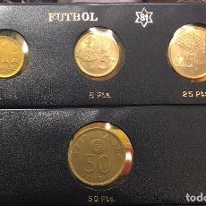 Monedas Juan Carlos I: EMISION COMPLETA 1981 FUTBOL ESPAÑA 82. Lote 98916371