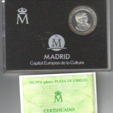 Monedas Juan Carlos I: 200 PESETAS DE PLATA 1992 (PLAZA CIBELES) - (CERTIFICADO DE AUTENTICIDAD) - FDC. Lote 99416859