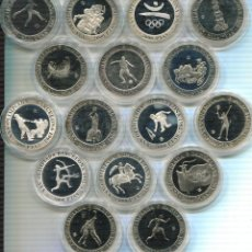 Monedas Juan Carlos I: ESPAÑA - SPÀIN SERIE 16 MONEDAS 2000 PTAS. PLATA BARCELONA 92 . Lote 100759303