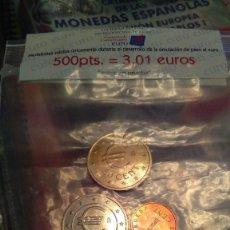 Monedas Juan Carlos I: MONEDERO EUROS CHURRIANA. SERIE DE CHURRIANA CON SU BOLSITA ORIGINAL. Lote 104665648