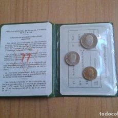Monedas Juan Carlos I: CARTERA PRUEBAS NUMISMÁTICAS -- 1977 (1975 *77) S/C -- OFICIAL -- IMPECABLES --. Lote 102852495