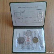 Monedas Juan Carlos I: CARTERA PRUEBAS NUMISMÁTICAS -- 1977 (1975 *77) S/C -- OFICIAL -- IMPECABLES --. Lote 102916375