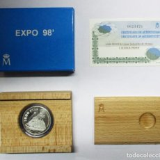 Monedas Juan Carlos I: 1000 PESETAS EN PLATA, 1998. JUAN SEBASTIAN DE ELCANO. LOTE 0721. Lote 103309211
