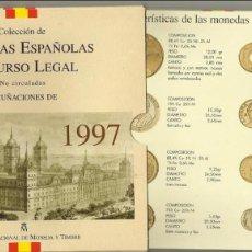 Monedas Juan Carlos I: SET DE MONEDAS DE ESPAÑA 1997.CARTERA OFICIAL FNMT. Lote 103379023