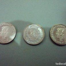 Monedas Juan Carlos I: 2 MONEDAS DIFERENTES 500 PTS.PRUEBA PLATA 1987 500 PTS DE 1987 SIN CIRCULAR. Lote 103411247