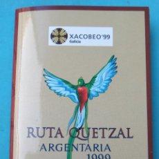 Monedas Juan Carlos I: MONEDA 2000 PESETAS 1999 Y MEDALLA , RUTA QUETZAL ARGENTARIA , EN CARTERA , ORIGINAL. Lote 103493767