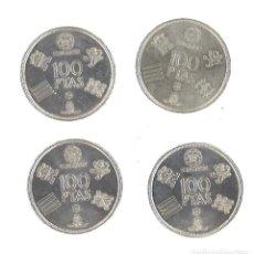 Monedas Juan Carlos I: 4 MONEDAS 100 PESETAS MUNDIAL'82. 1980. Lote 103548351