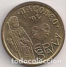 Monedas Juan Carlos I: ESPAÑA - 5 pesetas 1993 - Año Jacobeo - Botafumeiro - Foto 2 - 103616759