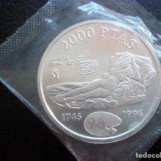 Monedas Juan Carlos I: 2000 PESETAS 1996 S/C FUNDA PROTECTORA DE BANCO . Lote 104018823