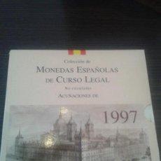 Monedas Juan Carlos I: SERIE MONEDAS ESPANOLAS EN CARTERA 1997. Lote 105090847