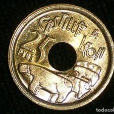 Monedas Juan Carlos I: MONEDA 25 PESETAS. ERROR DE DISEÑO CASTILLA LEÓN, SIN Y. . Lote 105718319