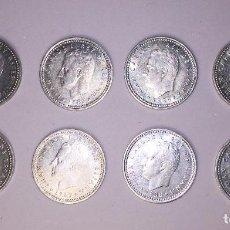Monedas Juan Carlos I: JUAN CARLOS I - MONEDAS DE 1 PESETA DE ALUMINO 1982-1989. Lote 105894215