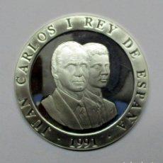 Monedas Juan Carlos I: 2000 PESETAS EN PLATA. JUEGOS OLIMPICOS DE BARCELONA, LLAMA OLIMPICA, 1991. LOTE 0767. Lote 105917075