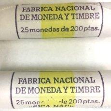 Monedas Juan Carlos I: **200 PESETAS DE 1986** EN CARTUCHOS (50 MONEDAS 2X25) FNMT *SIN CIRCULAR*). Lote 106138315