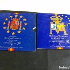 Monedas Juan Carlos I: ESPAÑA. CARTERA FNMT 1992. 10 PIEZAS. SC. ESCASA LAS DE LAS FOTOS VER TODAS MIS MONEDAS Y BILLETES. Lote 106692187