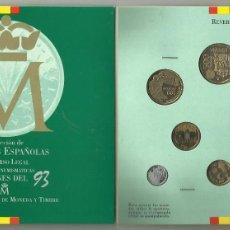 Monedas Juan Carlos I: SET DE MONEDAS DE ESPAÑA 1993.CARTERA OFICIAL FNMT. Lote 107201731