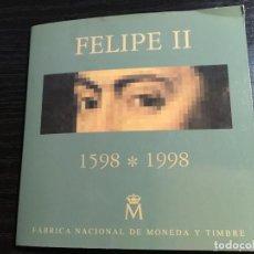 Monedas Juan Carlos I: CARTERA FNMT 1998 CONMEMORATIVA MONEDA 2000 PESETAS PLATA FELIPE II. Lote 107444595