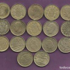 Monedas Juan Carlos I: ESPAÑA 17 MONEDAS DE 100 PESETAS, 17 FECHAS DIFERENTES. Lote 121676360