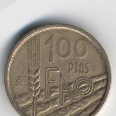 Monedas Juan Carlos I: ESPAÑA 1995 JUAN CARLOS I 100 PESETAS VARIANTE CANTO ANCHO. LIS ANVERSO. Lote 108028907