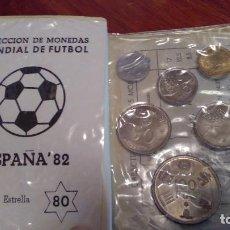 Monedas Juan Carlos I: ESTUCHE MONEDAS 1980, JUAN CARLOS I, MUNDIAL FUTBOL 82. Lote 108825951