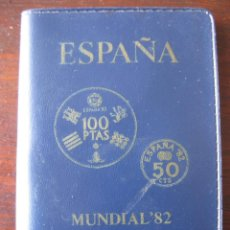 Monedas Juan Carlos I: CARTERA SERIE NUMISMATICA ESPAÑA MUNDIAL 82 ESTRELLA 80. Lote 109034107