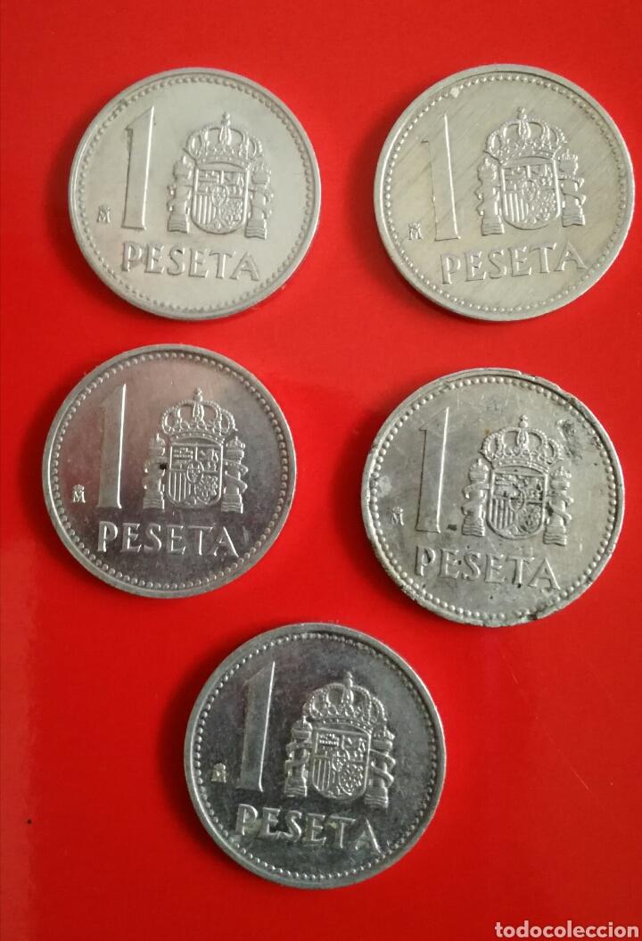 11 MONEDAS DE 1 PESETA. J.CARLOS I Y FRANCO (Numismática - España Modernas y Contemporáneas - Juan Carlos I)