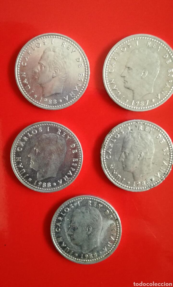 Monedas Juan Carlos I: 11 MONEDAS de 1 peseta. J.Carlos I y Franco - Foto 2 - 110028002