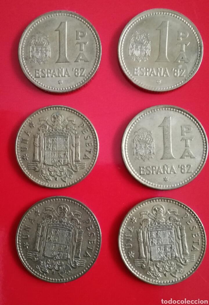 Monedas Juan Carlos I: 11 MONEDAS de 1 peseta. J.Carlos I y Franco - Foto 3 - 110028002