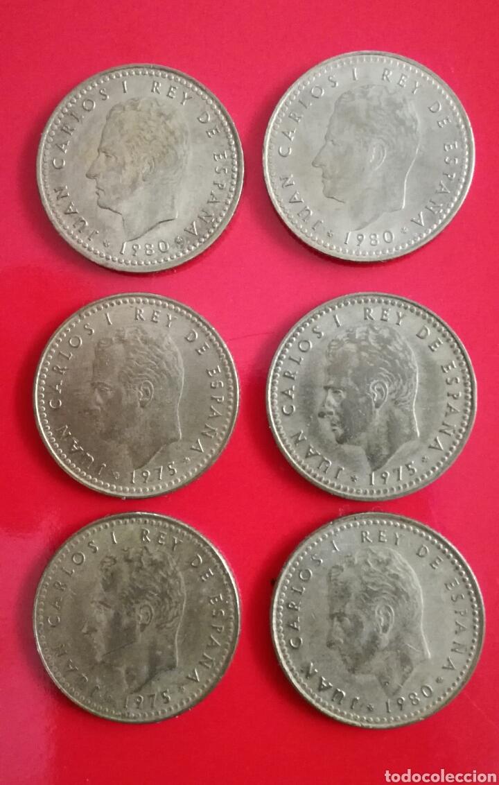 Monedas Juan Carlos I: 11 MONEDAS de 1 peseta. J.Carlos I y Franco - Foto 4 - 110028002