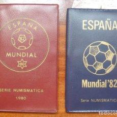 Monedas Juan Carlos I: SERIE NUMISMATICA ESPAÑA MUNDIAL 1980 Y 1982 LOTE OFERTA. Lote 112709487