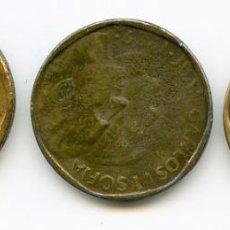 Monedas Juan Carlos I: 3 MONEDAS DE 500 PESETAS FALSAS DE ÉPOCA. 1988, 1989 Y 1994. Lote 113206935