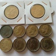 Monedas Juan Carlos I: LOTE DE 10 MONEDAS. 8 DE 100 PTS Y 2 DE 500 UNA SIN CIRCULAR. Lote 113242923