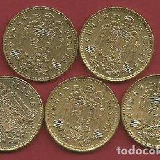 Monedas Juan Carlos I: ESPAÑA - LOTE DE 1 PESETA DEL AÑO 1975*76 HASTA 1975*80 - MBC - EBC - VISITA MIS OTROS LOTES. Lote 113343059