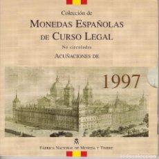 Monedas Juan Carlos I: CARTERA OFICIAL DE ESPAÑA DEL AÑO 1997 CON 8 MONEDAS EN PESETAS EN SU ESTUCHE ORIGINAL. Lote 114735511