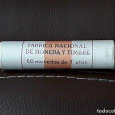 Monedas Juan Carlos I: CARTUCHO FNMT DE 50 MONEDAS DE 1 PESETA 1986 JUAN CARLOS I.SIN CIRCULAR. Lote 114994190