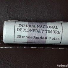 Monedas Juan Carlos I: CARTUCHO FNMT DE 25 MONEDAS DE 100 PESETAS 1988 JUAN CARLOS I.SIN CIRCULAR. Lote 114994487