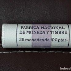 Monedas Juan Carlos I: CARTUCHO FNMT DE 25 MONEDAS DE 100 PESETA 1989 JUAN CARLOS I.SIN CIRCULAR. Lote 114994555
