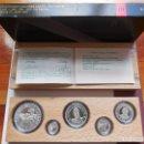 Monedas Juan Carlos I: MONEDAS 2000 1000 500 200 100 PESETAS. SERIE III 1991. 5 QUINTO CENTENARIO. PLATA FDC MATE.. Lote 115108763