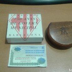 Monedas Juan Carlos I: 1249-1999 2000 PESETAS EN PLATA 750 ANYS DE GOVERN MUNICIPAL BARCELONA CON ESTUCHE Y CERTIFICADO. Lote 115281915