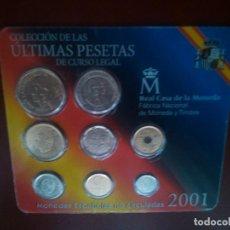 Monedas Juan Carlos I: ÚLTIMAS PESETAS NO CIRCULADAS EN ESTUCHE SON LAS DE LAS FOTOS. Lote 115292691