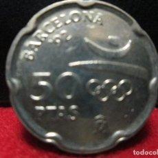 Monedas Juan Carlos I: 50 PESETAS 1992 OLIMPIADAS BARCELONA 92, JUAN CARLOS I EN BUENA CONSERVACION. Lote 116283063